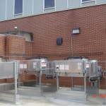 Condensor Units installed for InRow Cooling in a US ARMY data center facility.